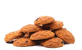 Oatmeal raisin cookie. Royalty Free Stock Photography