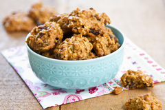 Oatmeal and raisin cookies Royalty Free Stock Images