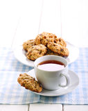 Oatmeal and raisin cookies Royalty Free Stock Photos
