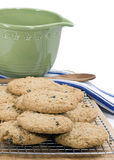 Oatmeal Raisin Cookies - vertical Royalty Free Stock Photo