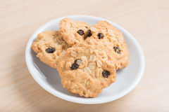Oatmeal and raisin cookies. Stock Image
