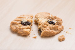 Oatmeal and raisin cookies. Royalty Free Stock Photo