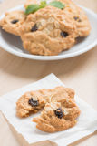 Oatmeal and raisin cookies. Royalty Free Stock Photography