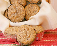 Oatmeal Raisin Muffins Stock Photography