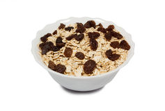 Oatmeal with raisins Royalty Free Stock Images