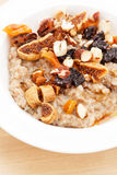 Oatmeal with raisins Royalty Free Stock Image