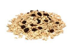 oatmeal rodzynki obrazy stock