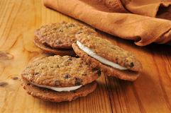 Oatmeal sandwich cookies Royalty Free Stock Photography