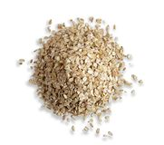Oatmeal slide isolated on white background. Photo oatmeal view from the top. Healthy breakfast stock photos