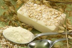 Oatmeal Soap Stock Photos
