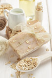 Oatmeal soap Royalty Free Stock Photography