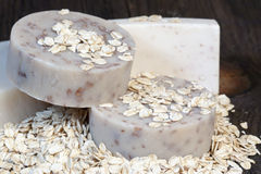 Oatmeal Soaps Royalty Free Stock Photos