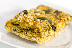 Oatmeal soft chewy fruit cookie with seeds Stock Image
