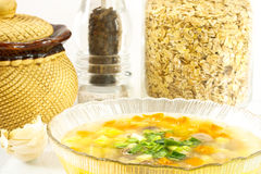 Oatmeal soup Royalty Free Stock Photo