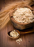 Oatmeal in  spoon Royalty Free Stock Photos