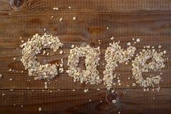 Oatmeal text Stock Photos