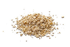 Oatmeal on white Royalty Free Stock Photography