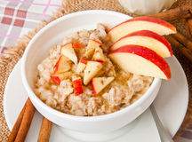 Oatmeal With Apples Royalty Free Stock Images