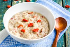 Free Oatmeal With Berries Goji Royalty Free Stock Photo - 53109855