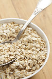 Oatmeal on wooden table Royalty Free Stock Images