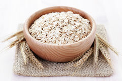 Oats. Bowl full of oats - food and drink Royalty Free Stock Image