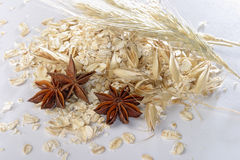Oats and anise Stock Image