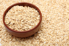 Oats in bowl Stock Photography