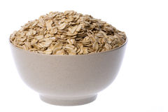 Oats in Bowl Isolated Stock Images