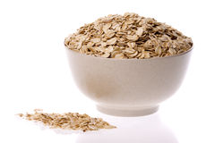 Oats in Bowl Isolated Royalty Free Stock Photography