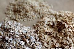Oats and brown rice Stock Photos