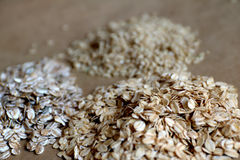 Oats and brown rice Stock Photography