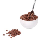 Oats chocolate cereal. Royalty Free Stock Photos