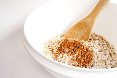 Oats and Cinnamon Stock Photo