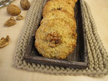 Oats cookies with walnuts Stock Images