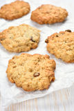 Oats cookies. On white baking paper Stock Photography