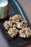 Oats cookies stock photo