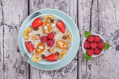 Oats and Fruits Stock Photo