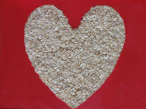 Oats good for Heart Royalty Free Stock Images