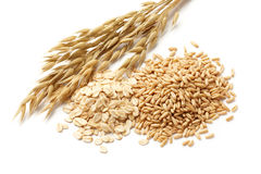 Oats with grains Royalty Free Stock Photos