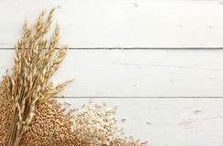 Oats with grains Royalty Free Stock Photography
