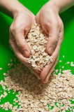 Oats in a handful Royalty Free Stock Images