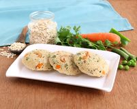 Oats Idli Healthy Indian vegetarian Food royalty free stock photography