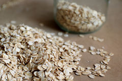 Oats in jar and background Stock Photography