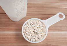 Oats In Measuring scoop Stock Photo
