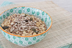 Oats with nuts and seeds Stock Photography