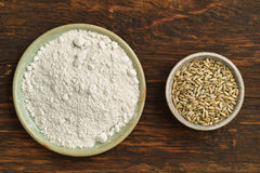 Oats and oat flour Stock Image