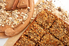 Oats pie with walnuts Royalty Free Stock Photos