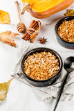 Oats and pumpkin crumble Royalty Free Stock Image