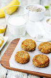 Oats pumpkin and sunflower seeds banana cookies. gluten-free Royalty Free Stock Photography