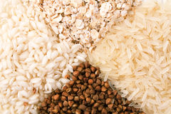 Oats, rice and buckwheat Royalty Free Stock Photo